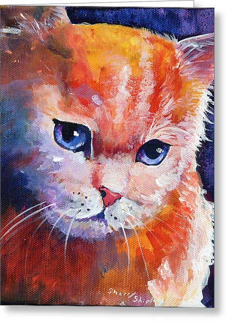 Pouting Kitty Greeting Card by Sherry Shipley