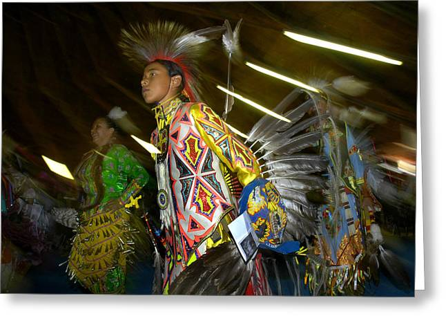 Fancy-dancer Greeting Cards - Pow Wow Dancer -5 Greeting Card by Angelito De Jesus