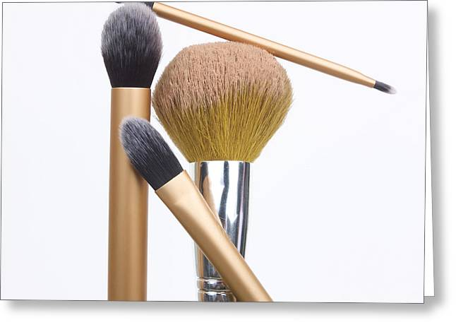 Powder and make-up brushes Greeting Card by BERNARD JAUBERT