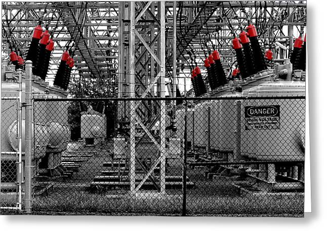 Electrical Power Greeting Cards - Power Generation Greeting Card by William Jones