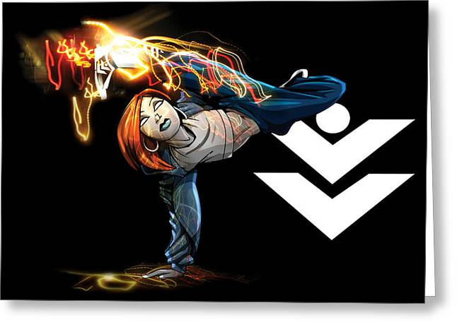 Break Dance Greeting Cards - Power moves Greeting Card by Jay Reed