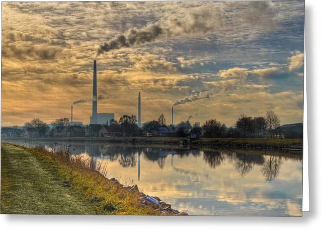 Power Plant Greeting Card by Gert Lavsen