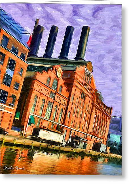 Power Plants Digital Art Greeting Cards - Power Plant Greeting Card by Stephen Younts