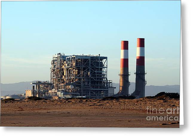 power station Greeting Card by Henrik Lehnerer