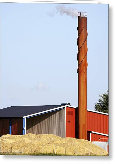 Bioenergy Greeting Cards - Power Station In Sweden Greeting Card by Bjorn Svensson