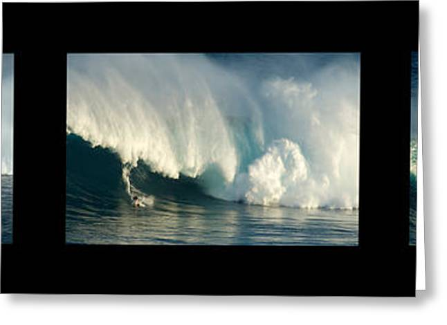 Surfing Art Greeting Cards - Power To Achieve No Caption Greeting Card by Bob Christopher