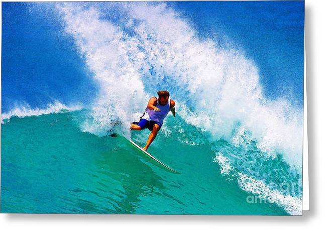 Action Sports Digital Greeting Cards - Power Turn Greeting Card by Paul Topp