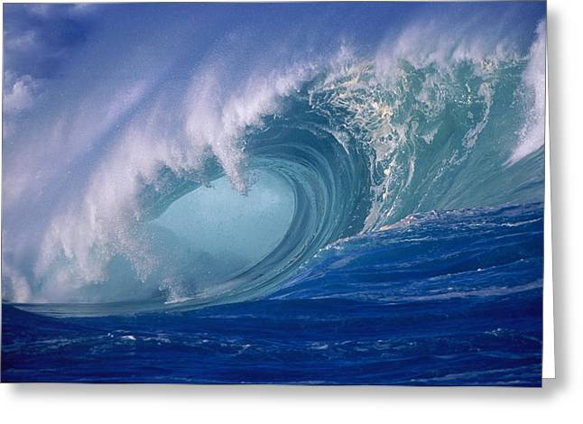 Best Sellers -  - Ocean Art Photos Greeting Cards - Powerful Surf Greeting Card by Ron Dahlquist - Printscapes