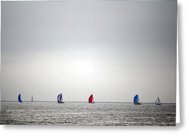 Best Sellers -  - Santa Cruz Sailboat Greeting Cards - pr 222 - Sailboats Greeting Card by Chris Berry