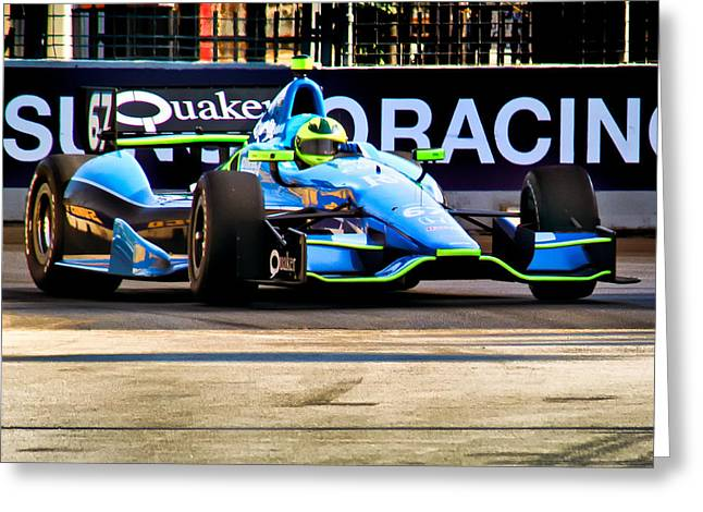 Indy Car Greeting Cards - Practice 2 Greeting Card by Glenn Thompson