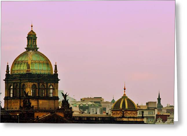 Prague - A living fairytale Greeting Card by Christine Till
