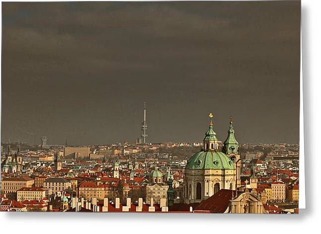 European Greeting Cards - Prague - A symphony in stone Greeting Card by Christine Till