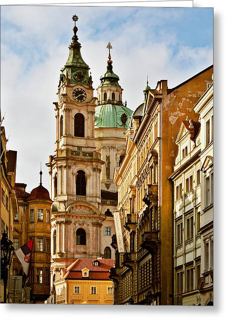 Baroque Greeting Cards - Prague - St. Nicholas Church Lesser Town Greeting Card by Christine Till