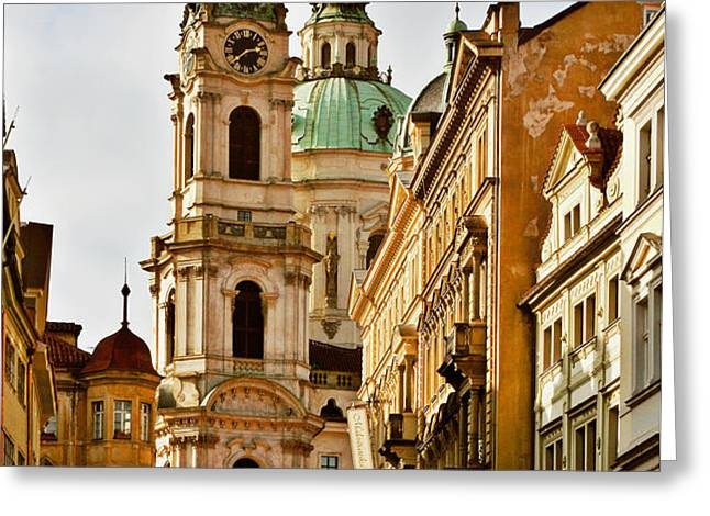 Prague - St. Nicholas Church Lesser Town Greeting Card by Christine Till