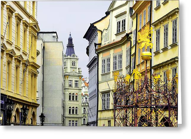 Prague - Walking in the footsteps of kings Greeting Card by Christine Till