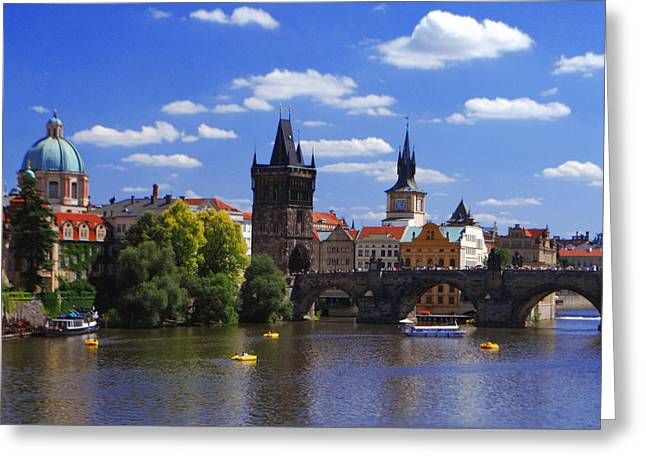 Jeka World Photography Greeting Cards - Prague and Charles Bridge Greeting Card by Jeff Rose