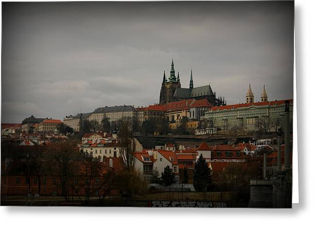 Sky Greeting Cards - Prague Castle Greeting Card by Kevin Flynn
