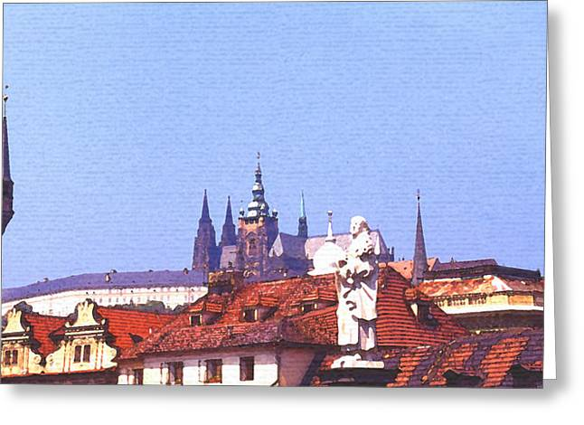 Prague Castle Greeting Card by Steve Huang
