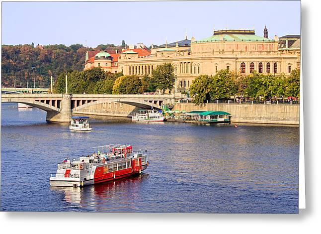 Tranquil Place Greeting Cards - Prague Cityscape Greeting Card by Artur Bogacki