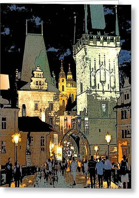 Prague Paintings Greeting Cards - Prague Greeting Card by Debora Cardaci