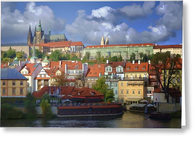 Prague Castle Greeting Cards - Prague Dreams Greeting Card by Joan Carroll