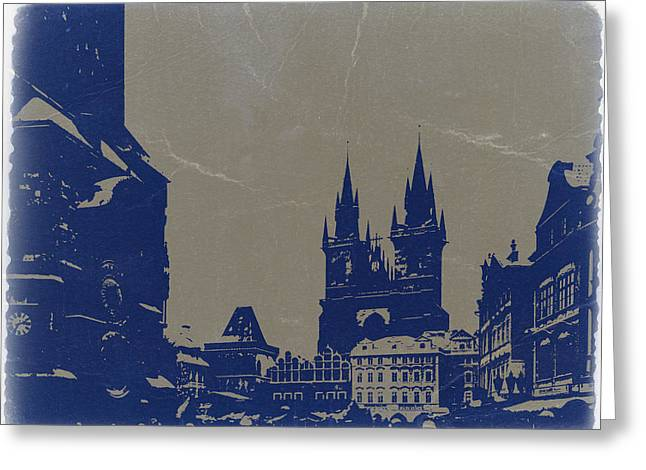 European City Greeting Cards - Prague old town square Greeting Card by Naxart Studio