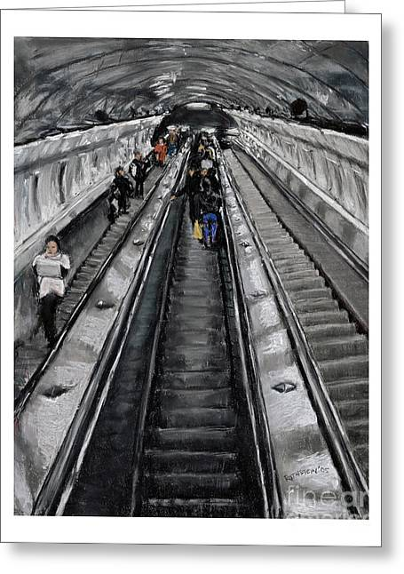 Prague Pastels Greeting Cards - Prague Underground Greeting Card by Barry Rothstein
