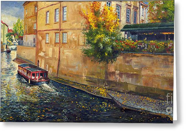 Europe Greeting Cards - Prague Venice Chertovka 2 Greeting Card by Yuriy  Shevchuk