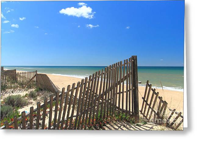 Portugal Greeting Cards - Praia do Ancao Greeting Card by Carl Whitfield