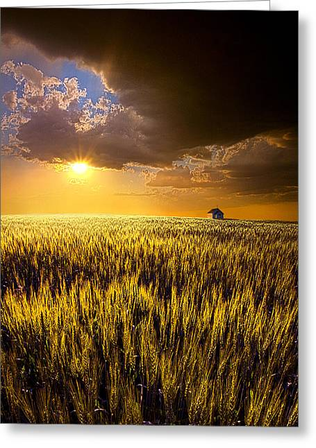 Twilight Greeting Cards - Praire Land Greeting Card by Phil Koch