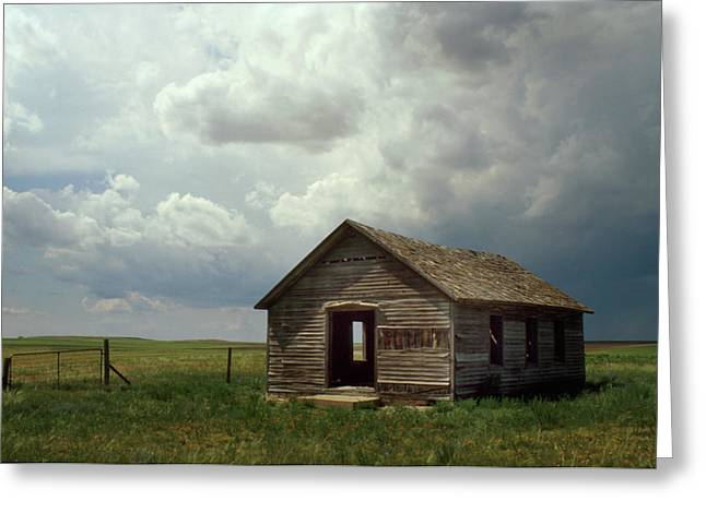 Jerry West Greeting Cards - Prairie Church Greeting Card by Jerry McElroy