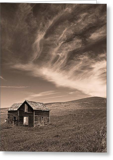 Abandoned Houses Greeting Cards - Prairie Dreams Greeting Card by Chris  Allington