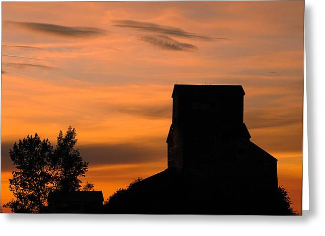 Regina Greeting Cards - Prairie Dusk Greeting Card by Tony Beck