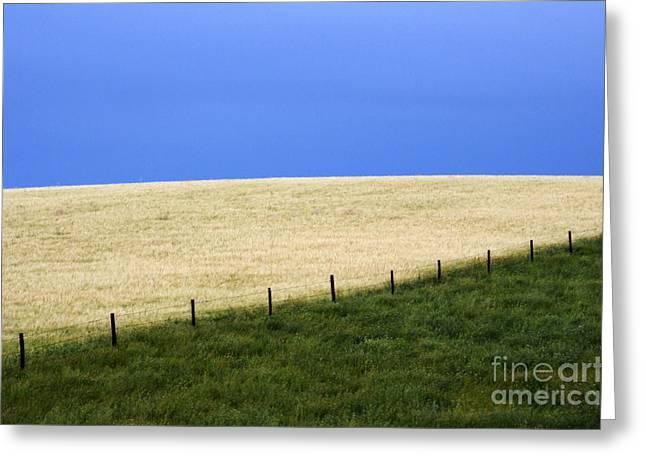 Alberta Prairie Landscape Greeting Cards - Prairie Horizon Greeting Card by Bob Christopher