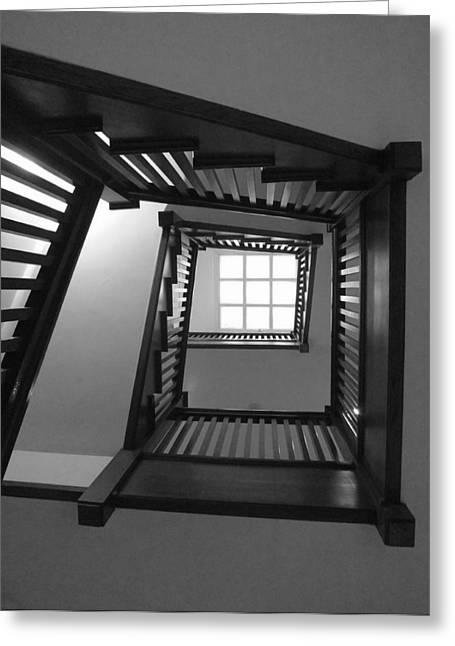 Anna Villarreal Garbis Greeting Cards - Prairie House Stairs Greeting Card by Anna Villarreal Garbis