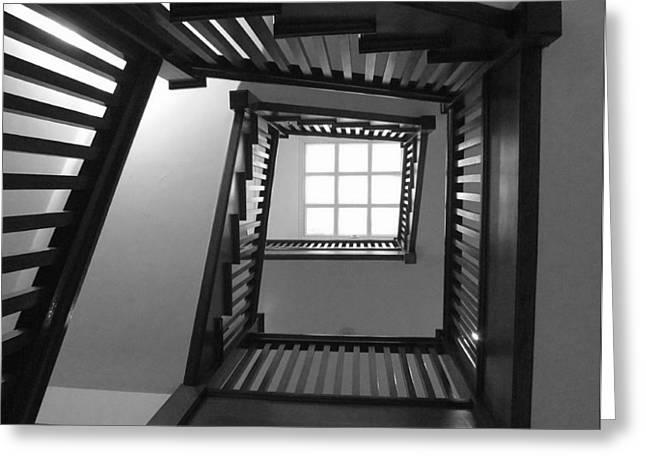 Prairie House Stairs Greeting Card by Anna Villarreal Garbis