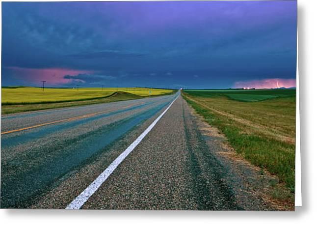Summer Storm Digital Art Greeting Cards - Prairie Storm Saskatchewan Greeting Card by Mark Duffy
