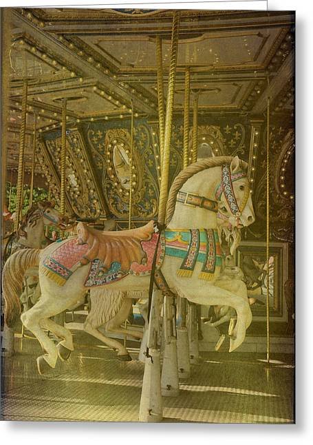 Soft Light Greeting Cards - Prancing Steed Greeting Card by Jan Amiss Photography