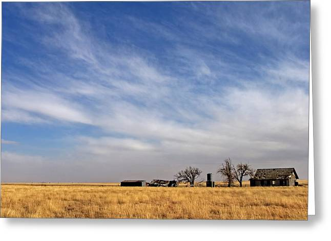Landscape Prints Greeting Cards - Prarie House Greeting Card by Peter Tellone