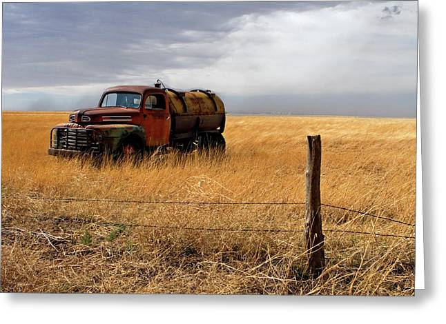 Old Trucks Greeting Cards - Prarie Truck Greeting Card by Peter Tellone