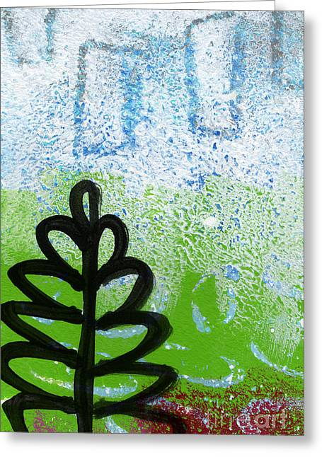 Abstract Tree Greeting Cards - Prayer Flags Greeting Card by Linda Woods