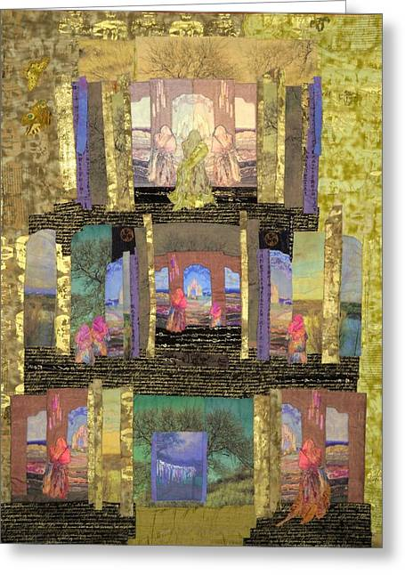 Child Tapestries - Textiles Greeting Cards - Prayers for Peace Greeting Card by Roberta Baker