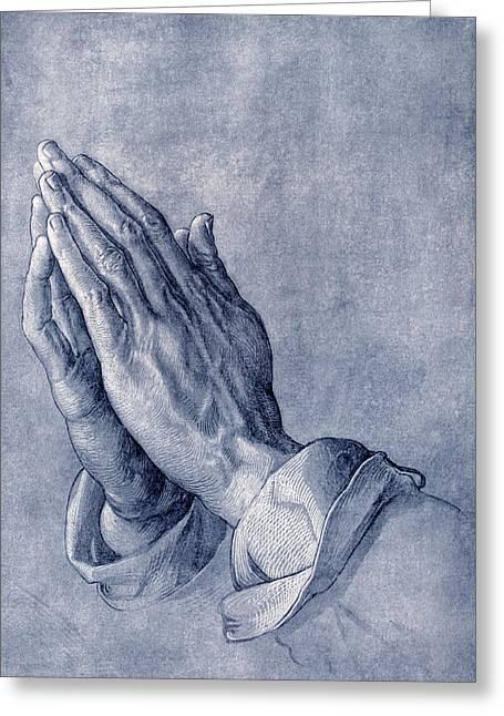 Praying Hands Photographs Greeting Cards - Praying Hands, Art By Durer Greeting Card by Sheila Terry