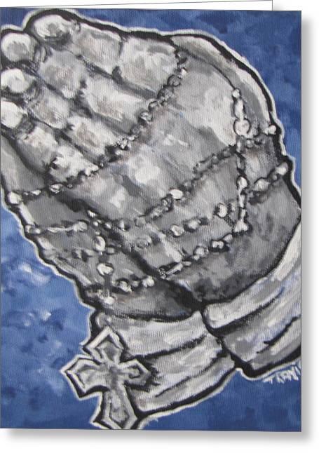 Praying Hands Greeting Cards - Praying Hands Greeting Card by Travis  McCray