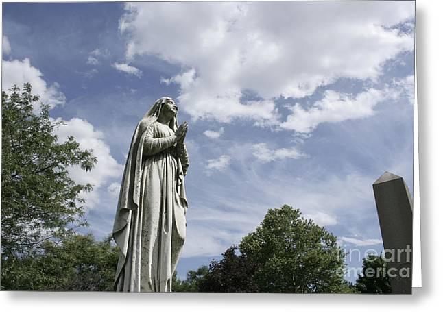 Praying In The Sky.02 Greeting Card by John Turek
