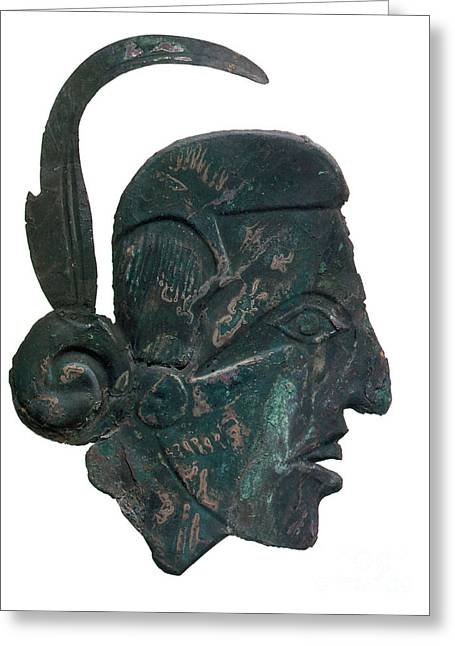 Native American Sculptures Photographs Greeting Cards - Pre-columbian Copper Ornament Greeting Card by Photo Researchers