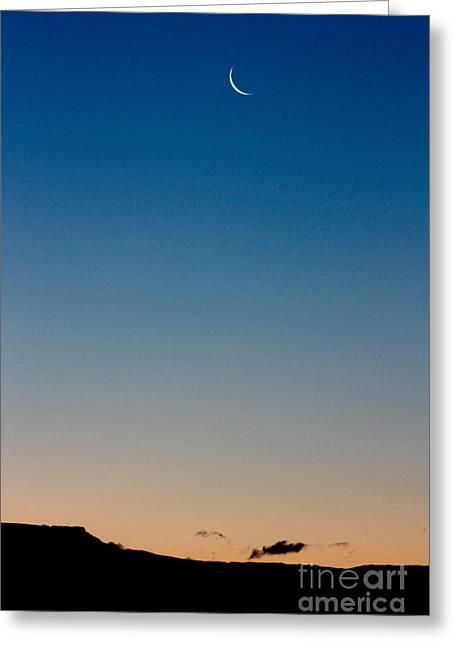 Moonrise Greeting Cards - Pre-Dawn Moonrise Greeting Card by Sarah Mah