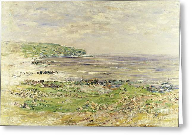 Windswept Paintings Greeting Cards - Preaching of St. Columba Iona Inner Hebridies Greeting Card by William McTaggart