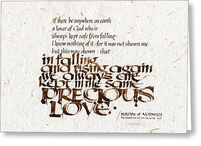 Conviction Greeting Cards - Precious Love Greeting Card by Judy Dodds
