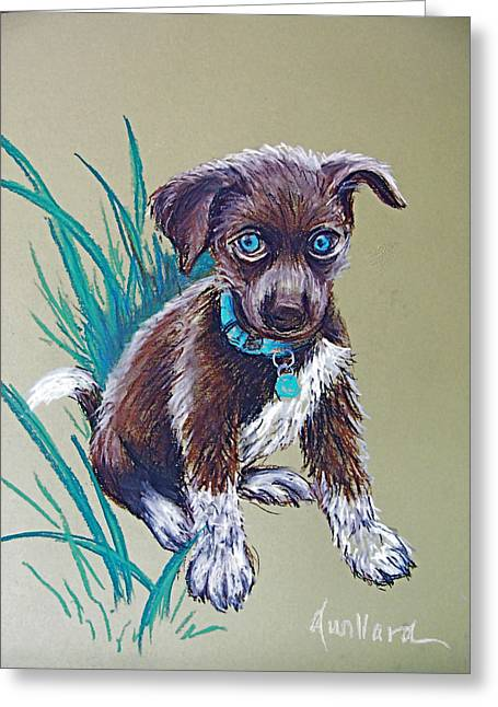 Puppies Pastels Greeting Cards - Precious Puppy Greeting Card by Deborah Willard